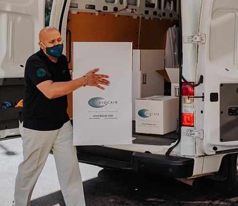 Biocair door to door shipments
