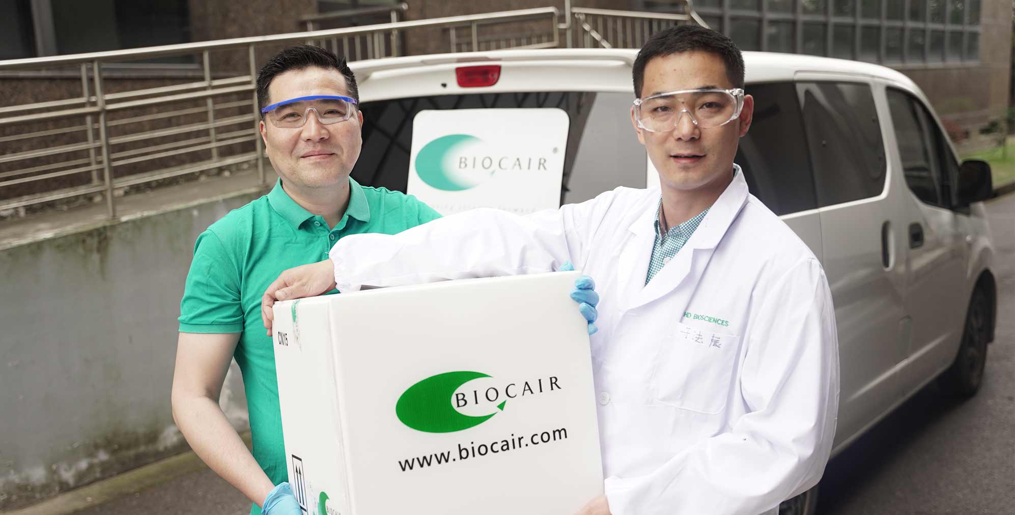Biocair colleague and customer