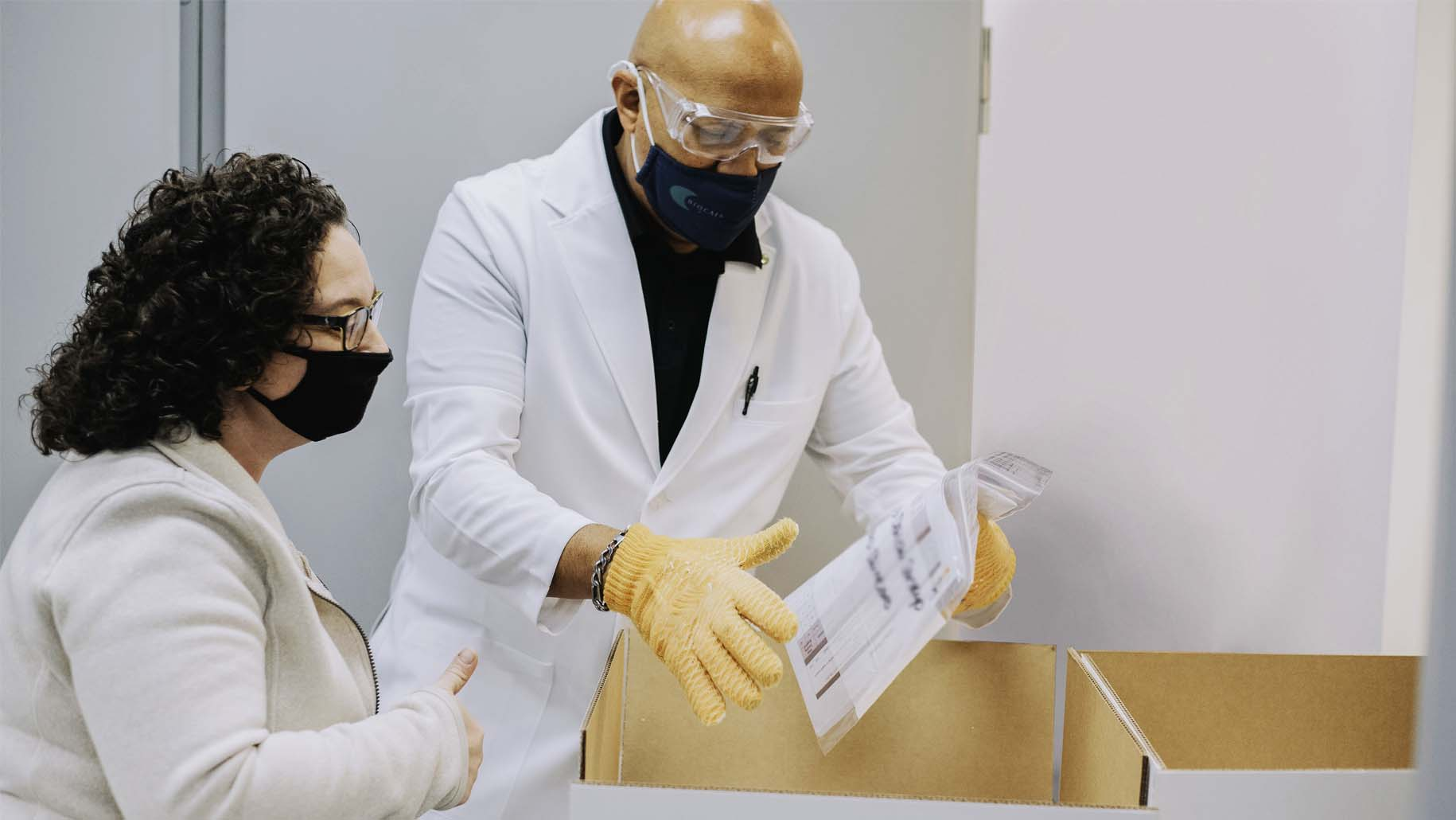 Biocair staff wearing face masks