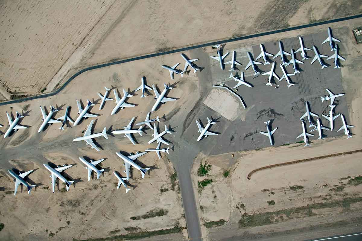 aerial view of aircraft