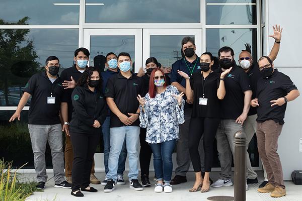 Biociar's LA team in front of new office.