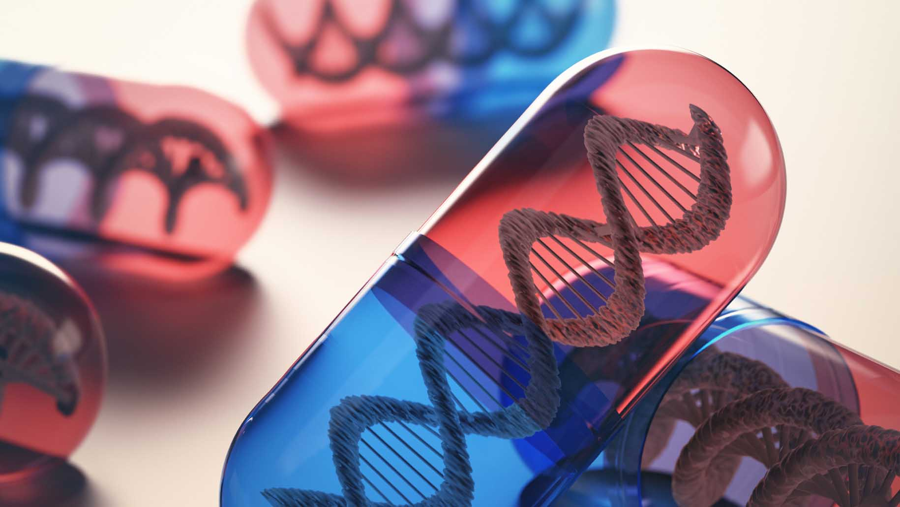 Tablets with genetic code inside. Cell and gene therapy.