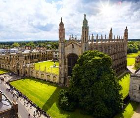 Cambridge University and Kings College Chapel, in Cambridge UK