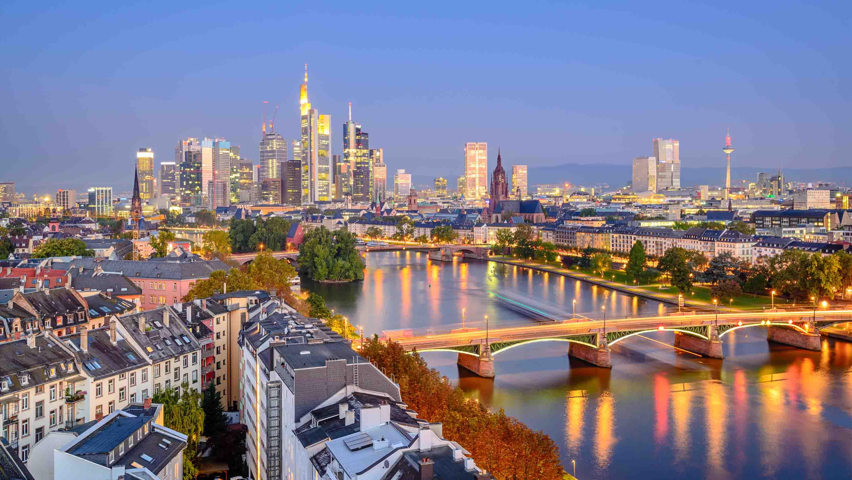 Frankfurt landscape at sunset